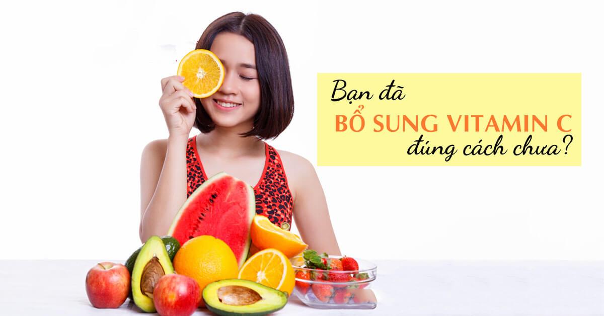 người bị đau dạ dày có nên uống vitamin c